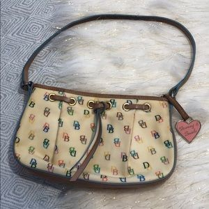 Vintage [ Dooney & Bourke ] DB Signature Print Bag
